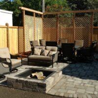 Backyard Landscaping with Fence